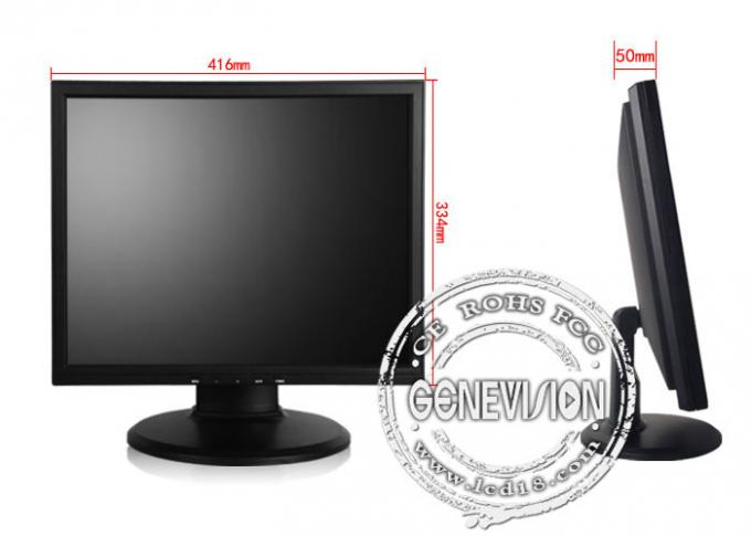 16.7M 17 Inch widescreen lcd monitor for Security , PAL / NTSC / SECAM