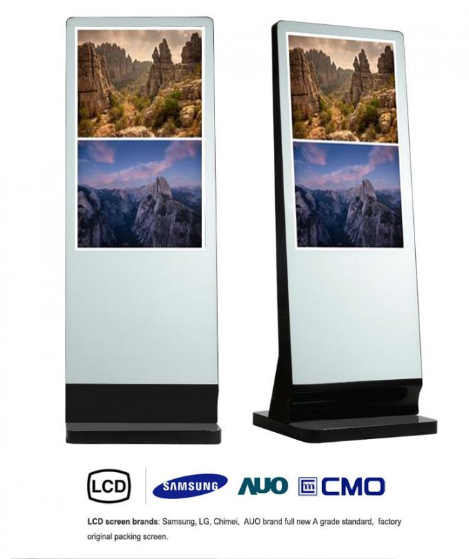 "HD Totem Standalone Digital Signage LCD Display 55"" Aluminum Frame"
