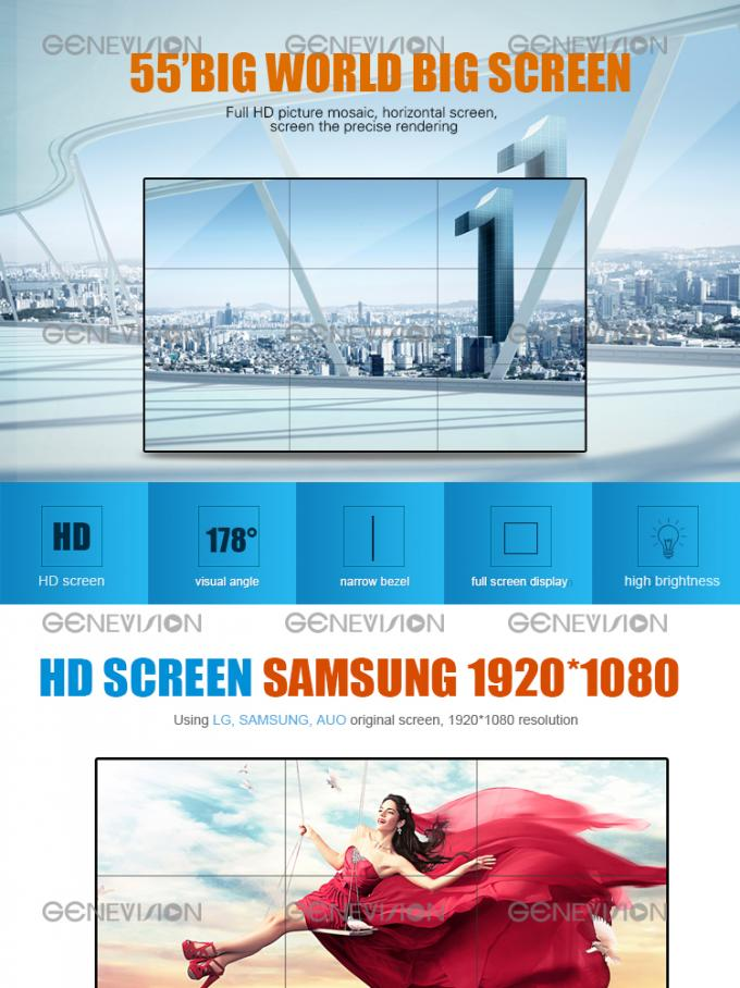 Narrow bezel create HD video wall advertising digital signage HDMI controller