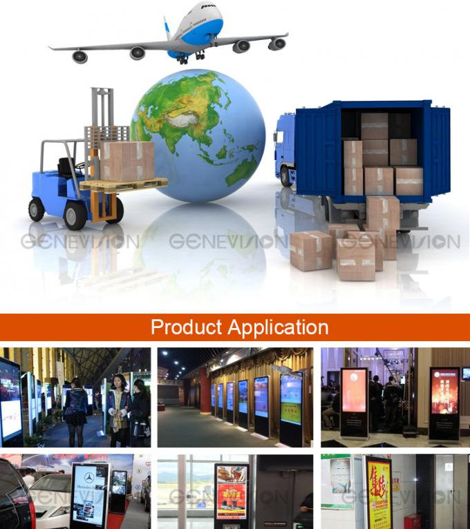Floor standing wifi touch Kiosk Digital Signage LCD ad player / mobile phone charging station