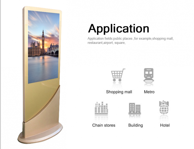 43inch Special stand HD vertical screen USB Kiosk Digital Signage display advertising totem
