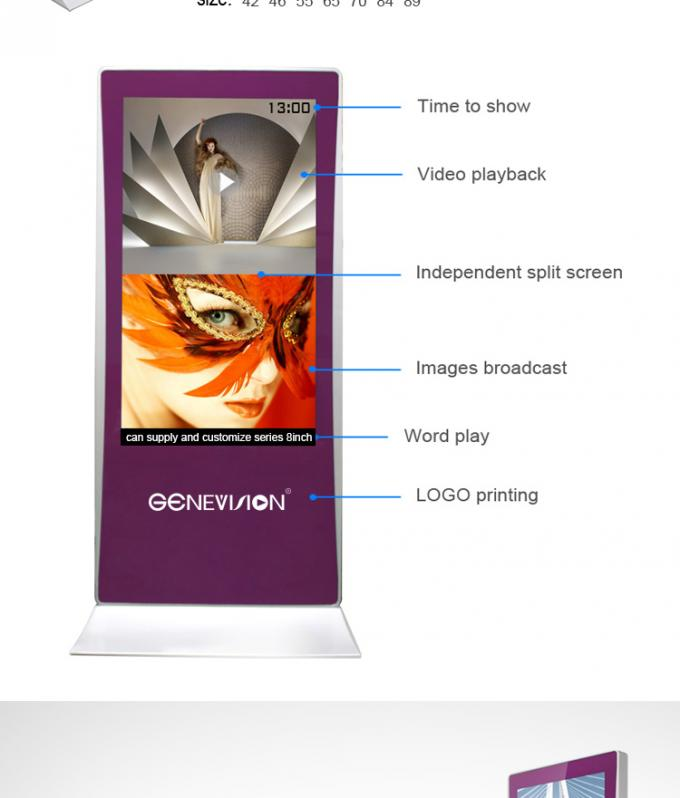 Factory Price 55inch Interactive Standee Beauty Shop Touch Kiosk Industrial Advertising Display Android Media Player