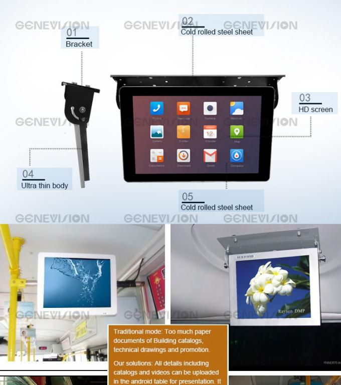 21.5 Inch Shockproof Bus Media Player Portable Bus Screen Wifi Car Monitor With 3g
