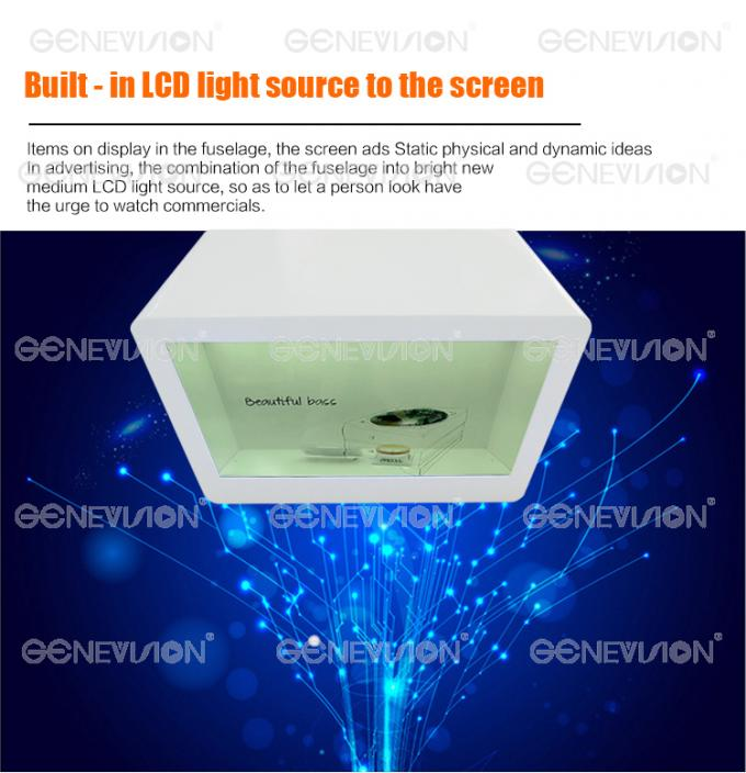 32 Inch Lcd Transparent Display Advertising Box / Lcd Video Showcase