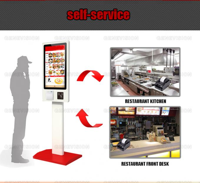 32 Inch Interactive Self Service Kiosks Metal Ordering Terminal Payment Machine