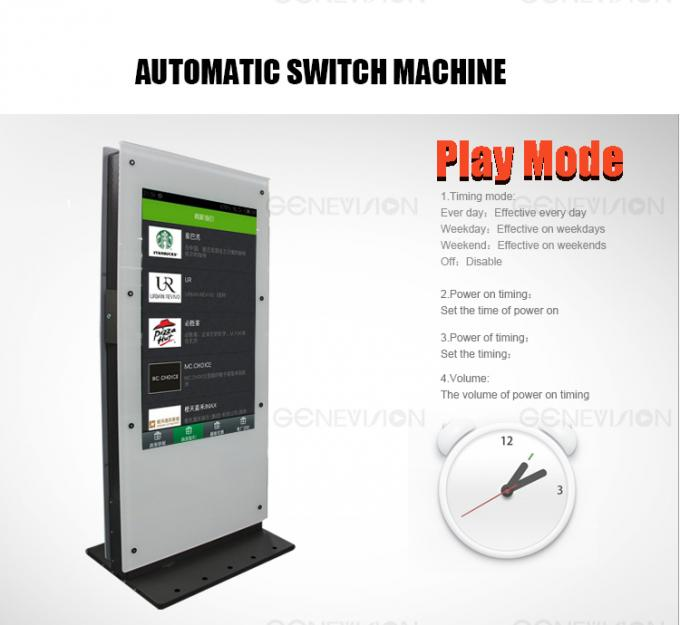 PCAP Touch Screen Kiosk Dual Screen Totem Touch Computer Kiosk Double Side 1080p Smart