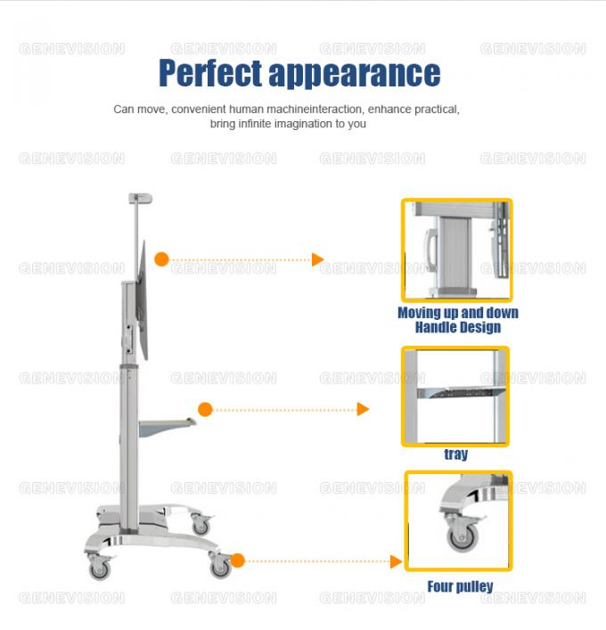 Ultra Big Screen 60 100 Aluminum Alloy Movable Stand Advertising