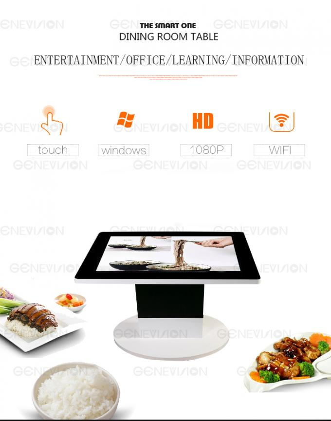 42 Inch Full Hd Digital Tea Lcd Touch Coffee Table Kiosk Cabinet 1920*1080 Resolution