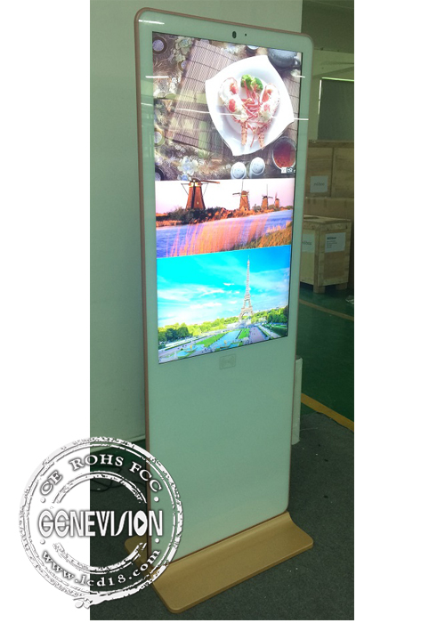 Ultra-slim 4G Advertising Standee AUO Screen Wifi Digital Signage Remote Managing Totem Media Player Kiosk