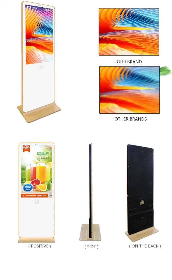 Floor Standing Android Os Lcd Digital Signage Original Auo Screen 1920*1080 Full Hd