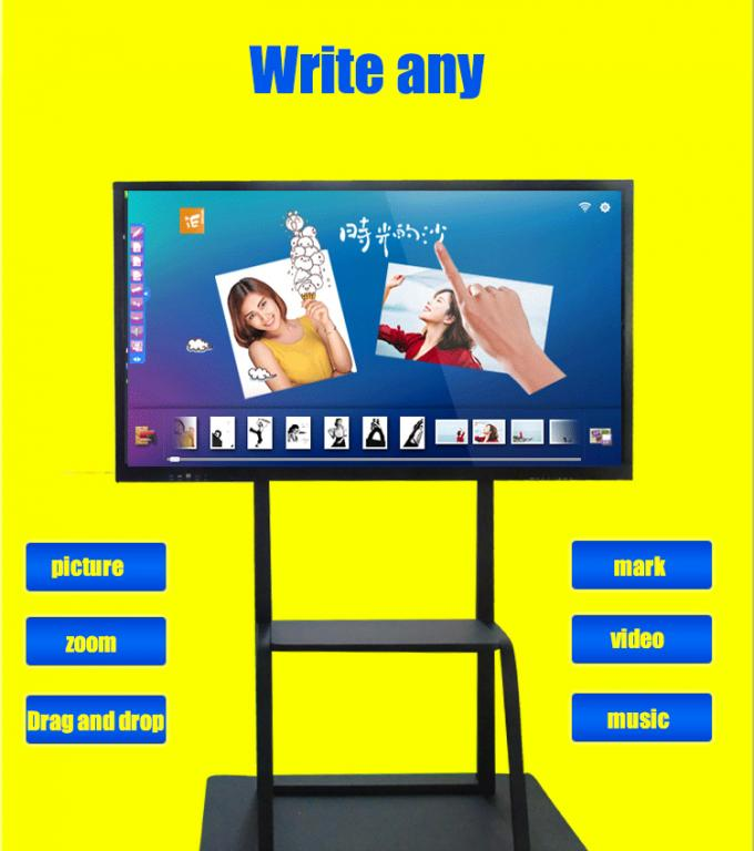 Mobile Stand Electronic IR Interactive Whiteboard 4K Touch Screen Android and Windows Systems