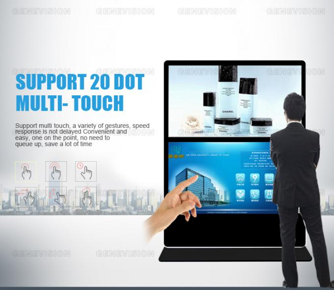 "Promotional Sale Dual Lcd Wifi Digital Signage Kiosk, Ready Stock 60""+60"" Floor Stand Information Station"