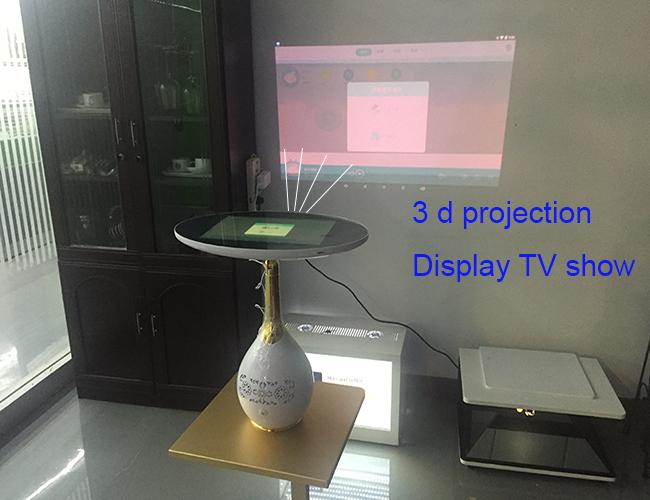 Mini Tabletop Portable Mirror Lcd Advertising Player 3 D Projector Screen