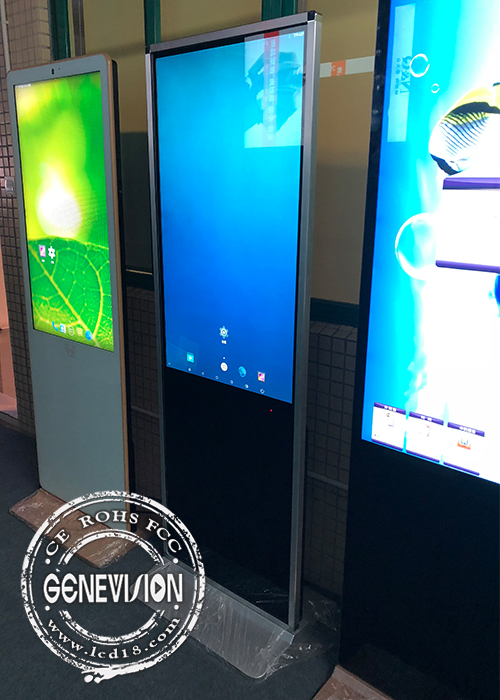 Ready Stock Thin Housing Touch Screen Kiosk Ubuntu OS Wifi Infrared Touch Standee