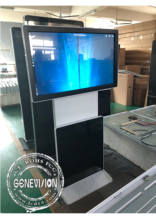 Rotating Touch Screen Terminals Floor Standing Interactive  Kiosk Wifi Digital Signage