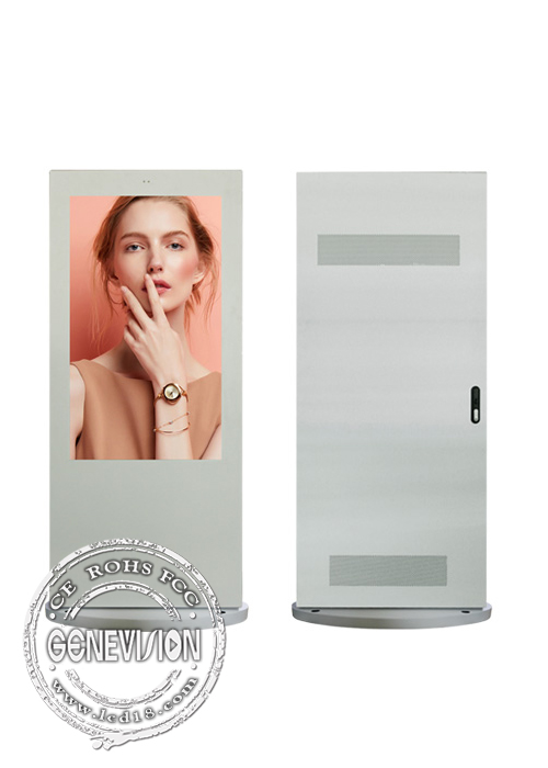 55 Inch Outdoor Media Player Kiosk Digital Advertising Floor Standing Ip65 Waterproof