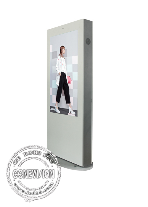 free stand lcd advertising display / outdoor digital signage for bus stop