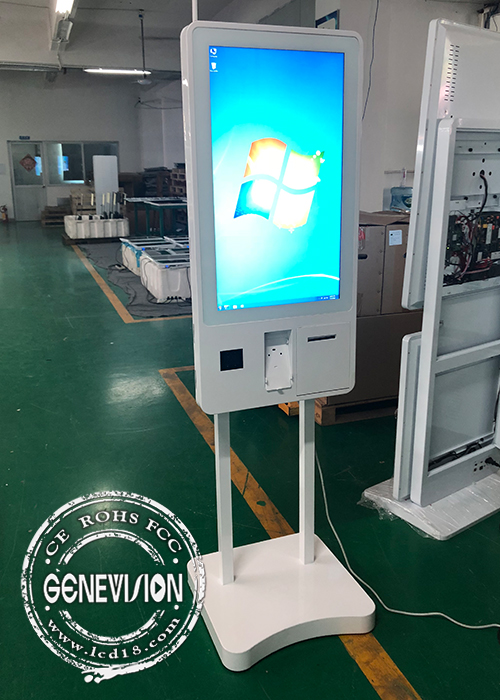 "32"" Windows/Android 5.1 LCD Touchscreen Payment Kiosk, RS232 Thermal Paper Printer, Barcode Scanner and POS with Wifi"