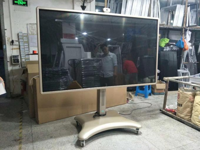 Dual System Touch Screen Digital Signage Multi Media PC Smart White Board Interactive With Camera