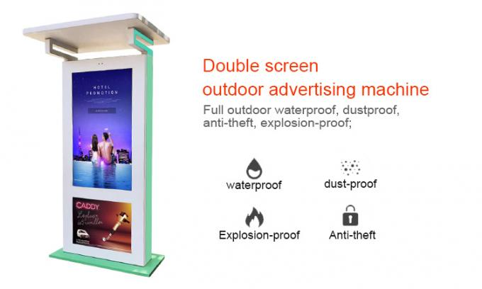 55 Inch Outdoor Electronic Signage Capacitive Film Touchscreen LCD Advertising Kiosk