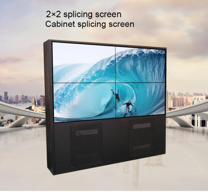 4K Daisy Chain Wall Mount LCD Display 2 * 2 55inch  Floor Standing