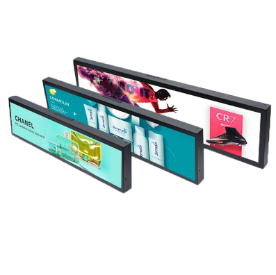 Long Screen Stretched Digital Signage LCD Indoor Video Display High Brightness 19.7 Inch