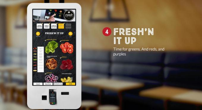 Advertising Display Wifi Digital Signage Restaurant Ordering Machine POS System
