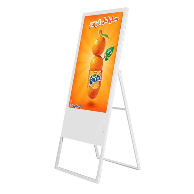MAD-550 Wifi Digital Signage 55 Inch Floor Stand Display Screen Support Phone Charging
