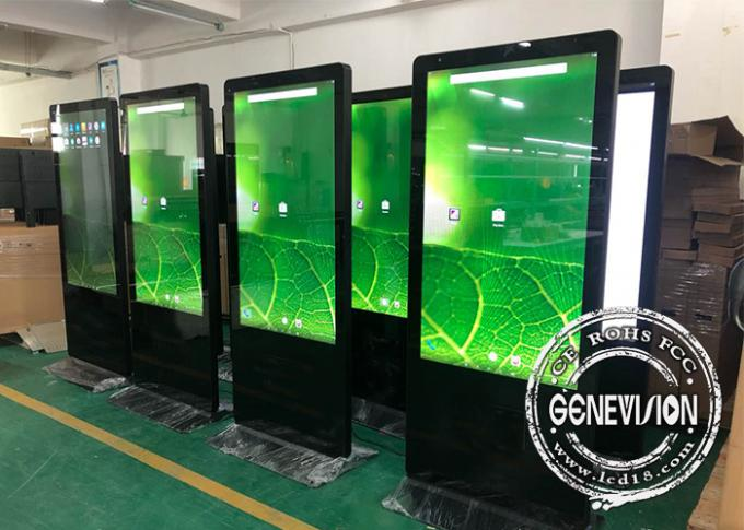 55 Inch Customized Android 6.0 LCD Advertising Kiosk with Face Recognition Camera and Logo Printing