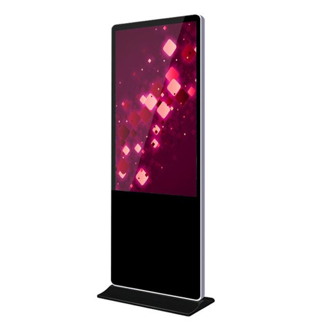 Floor Standing Wifi Digital Signage , 55 Inch Lcd Advertising Media Player Motion Activated