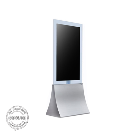 "55"" Transparent Glass LG Screen LCD Digital Signage Kiosk Capacitive Touch Advertising Player"