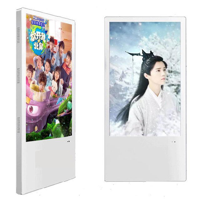 Wall Mounted LCD Advertising Media Player 32'' Elevator Stand Alone With Speaker