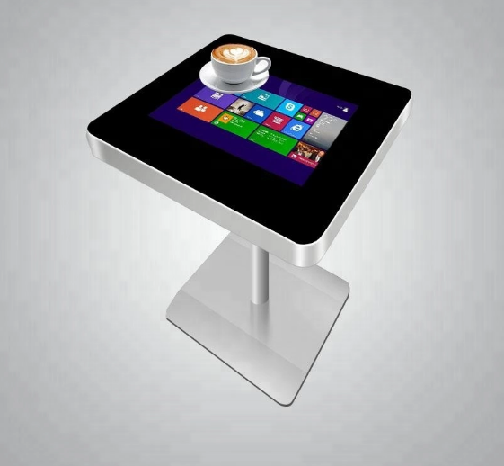 22 Inch Interactive Touch Screen Kiosk Coffee Touch Table Support Wireless Charging
