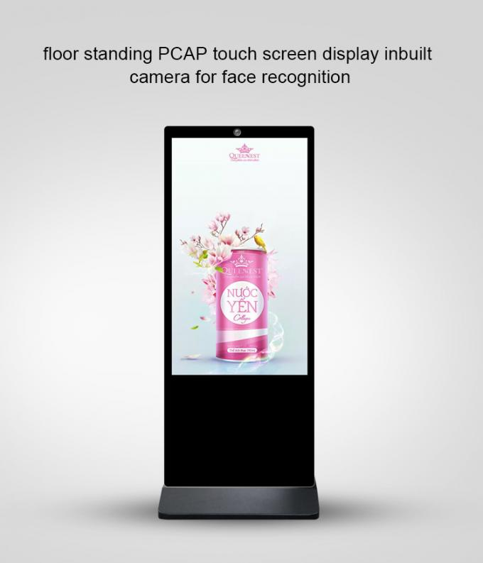Smart Capacitive Touch Screen Kiosk Wifi Digital Signage Camera Built In 65'' Big Size With 4G Google Play