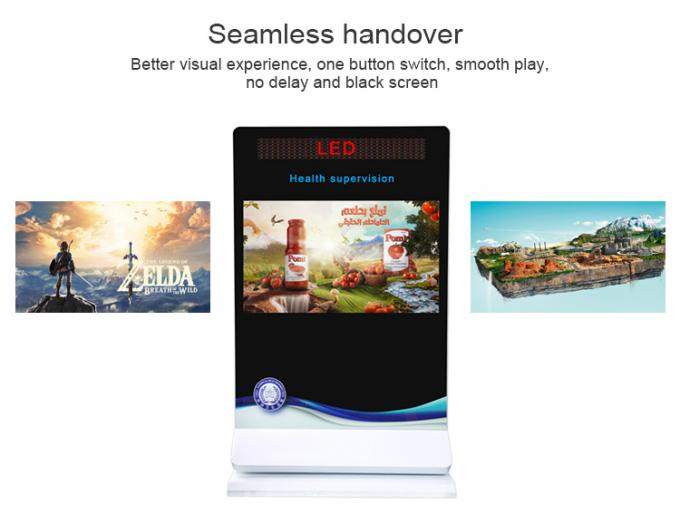 55 Inch Horizontal Screen Kiosk Digital Signage Led Marquee Advertisement Player With Led Backlit Logo