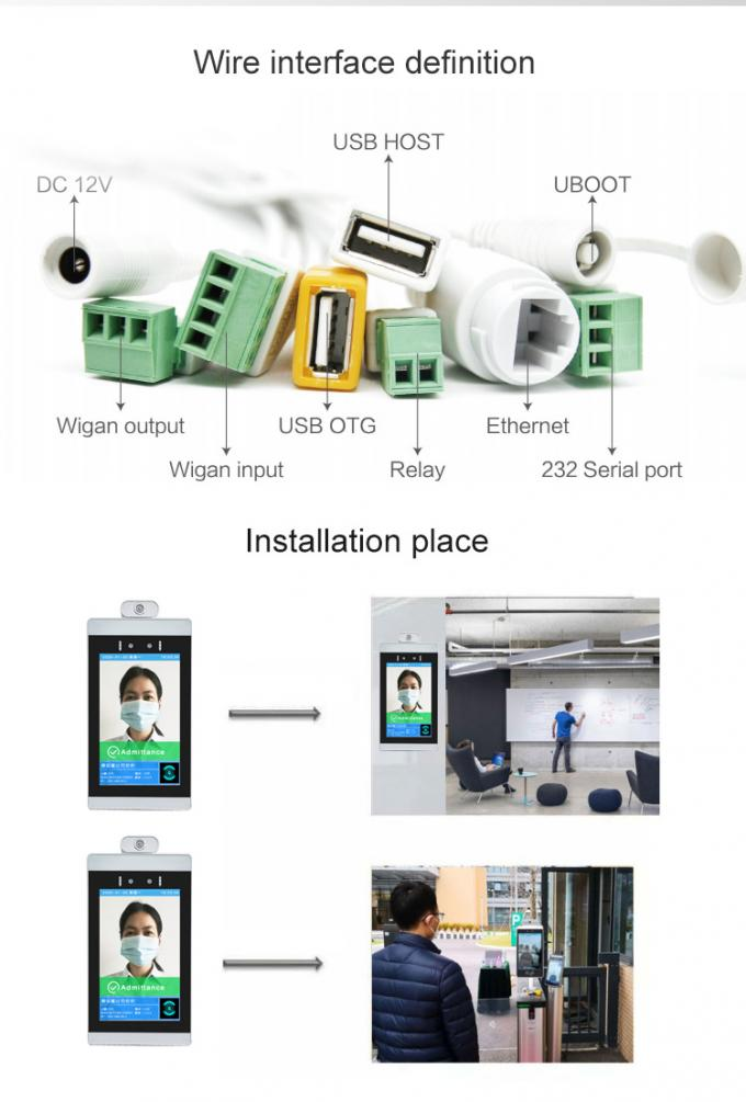 Android Facial Recognition Thermometer Wifi Digital Signage