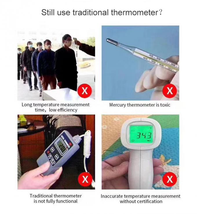 Office Wall Mount Hand Free Temperature Measurement K3 IR LCD Infrared Thermometer