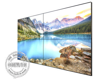 China 55 Inch 3.5mm bezel flexible digital signage advertising , 800cd / m2 led video wall HDMI supplier