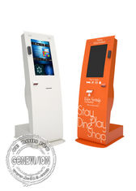 "Retail Information Touch Screen Kiosk 22"" Portrait Card Swipe Printer Scanner Windows 10 OS"