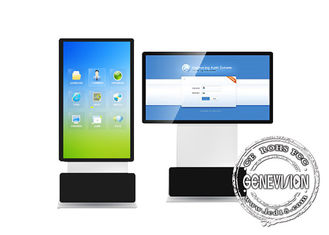 Portrait Displaying Information Kiosk Digital Signage Fhd Lcd Screen Rotatable Stand