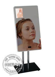 13.3 Inch Magic Mirror Advertising Player , Bathroom Body Motion Sensor Mirror Media Player Android