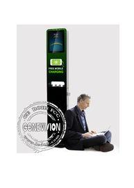 21.5 Kiosk Digital Signage Display Stands Cell Phone Charging Station Multi Media Ads