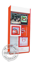Lcd Display Cabinet Kiosk Digital Signage With Wifi , Aed Emergency Cardiac First Aid Advertising Station