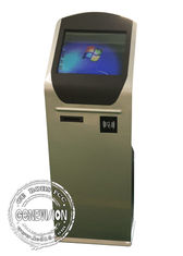 19 inch Bank Touchscreen Wifi Digital Signage with Thermal Printer , NFC Touch Computer Kiosk