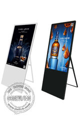 New type Ultra Thin 43 inch vertical portable WIFI digital signage