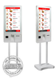 China 32 Inch PCAP Touch Screen Self Payment Kiosk Windows10 Ordering Machine Kiosk With Thermal Printer supplier