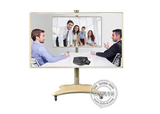86inch Dual System Multi media all ine one PC Smart White board Interactive touch screen kiosk with camera