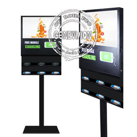 Floor Stand Android Digital Signage 21.5'' 5G Wireless Phone Charging LCD Advertising Screen