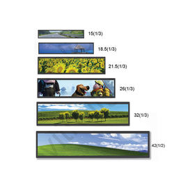 "China Custom Size Shelf edge screen display 19"" 24"" 28"" 700 nits Ultra Wide Stretched bar LCD Digital Signage Advertising supplier"