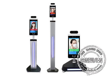 China Floor Standing Kiosk Digital Signage Access Control System 1000ml Sanitizer Dispenser Capacity supplier